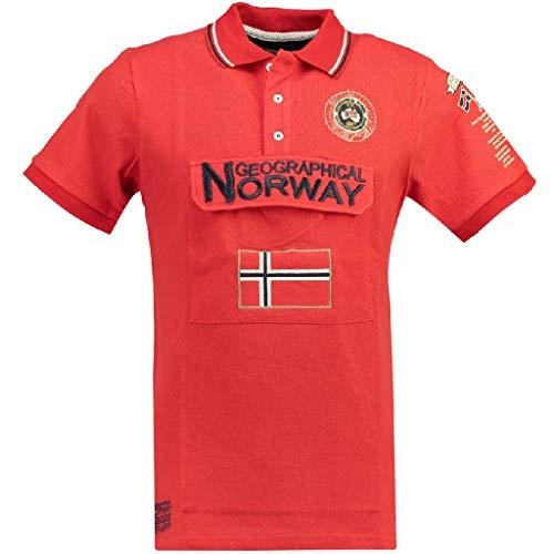 Geographical Norway Polo DE Hombre KAYFOUR Rojo M