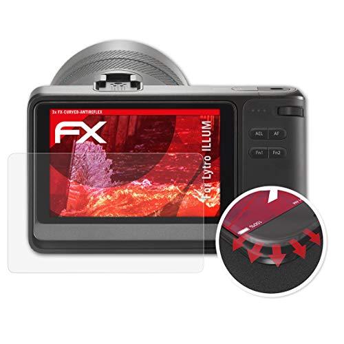 atFoliX Schutzfolie kompatibel mit Lytro Illum Folie, entspiegelnde und Flexible FX Displayschutzfolie (3X)