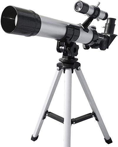ZHANGYH Telescopio digital para adultos y niños principiantes, refractor astronómico de 50 mm con refracción de trípode ajustable, viaje para niños, adolescentes, astronomía, observación de estrellas