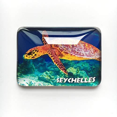 Kühlschrankmagnet, Meeresschildkröte der Seychellen, Souvenir, Geschenk, Heim- und Küchendekoration, Magnet-Aufkleber, Seychellen, Kühlschrank-Magnet-Kollektion