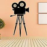 Tianpengyuanshuai Etiqueta de la Pared de la cámara de película Etiqueta de la Pared del Vinilo Cine Retro Mural Extraíble Decoración del hogar 45X85cm