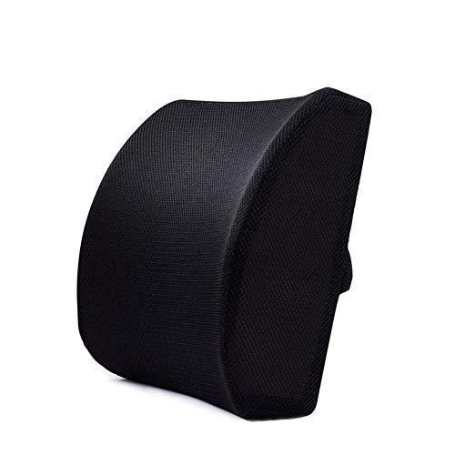 Cojín de soporte lumbar Abilieauty de espuma viscoelástica para el asiento del coche, la oficina y el hogar