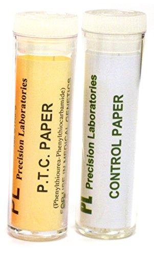 eisco fsc1031–1034Labs PTC sabor papel experimento Kit, clase Set, PTC y control, genética sabor de pruebas (viales de 100)