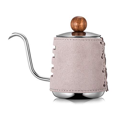 goneryisour Hervidor de cafe de acero inoxidable con boquilla de boca fina, 300 ml