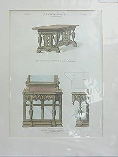 Le Garde-Meuble Handoloured lithograph 1860 Guilmard