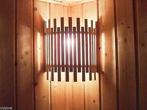 Sauna Lampenschirm Holzblendschirm