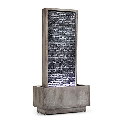 blumfeldt Imperia Grey Edition - Fontaine de Jardin décorative, Jeux d'eau, Intérieur et extérieur, Pompe de 10 W, Protection IPX8, Câble de 10m, LED, Métal galvanisé, Gris