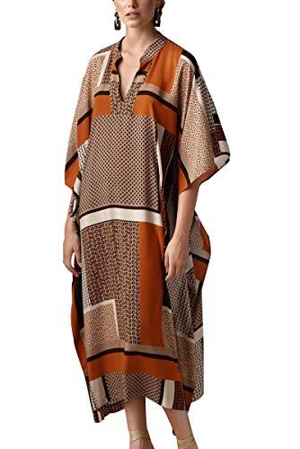 L-Peach Kimono Bohemio Cardigan para Mujer Ropa de Salón Batas de Gran Tamaño Vestido de Playa Pareos