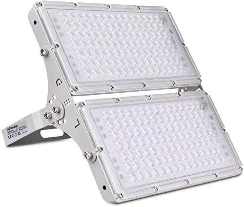 Faretto LED 1pcs*200W per esterni,faretti bianchi caldi impermeabili,leggeri,sottili,20000LM IP65 impermeabili con rotazione di 180°per giardino,garage o campo sportivo per giardino,cortile,fabbrica