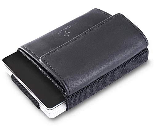 Pocket1 Geld-Clip Münzfach - Fast-Card-Slot - Slim Wallet Geldbörse Schwarz I bis 14 Kreditkarten