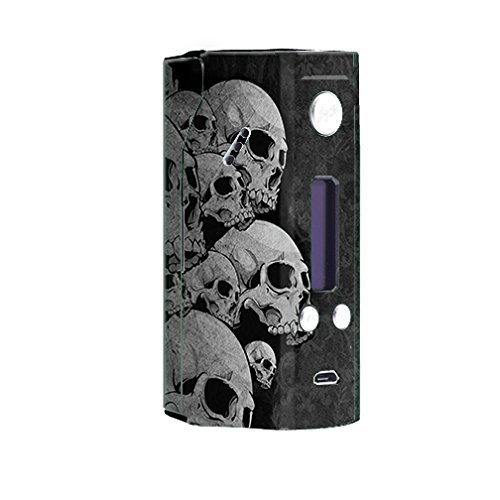 Skin Decal Vinyl Wrap for Wisemec Reuleaux rx200 Vape Mod Box / Skulls stacked