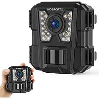 WOSPORTS 1080P Waterproof Mini Trail Camera with Night Vision