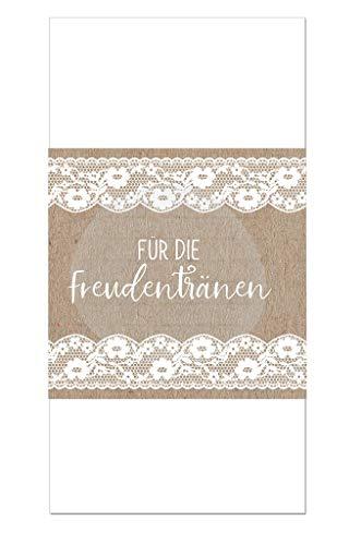 50 Taschentuch Banderolen, Hochzeitsdeko, Banderolen