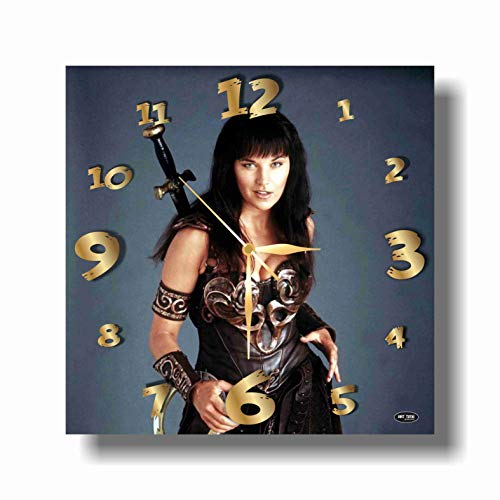 Art time production Xena Warrior Princess 11'' Handmade Wall Clock - Get Unique décor for Home or Office – Best Gift Ideas for Kids, Friends, Parents and Your Soul Mates