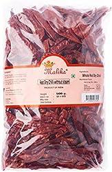 Malika Red Dry Chili Without Stem, 500 g