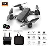 juman634 K2 Dual Camera Quadrotor Aircraft Endurance High Altitude HD 4K Aerial Photography Long Life Folding Drone Aircraft Remote Control One-Click Takeoff/Landing