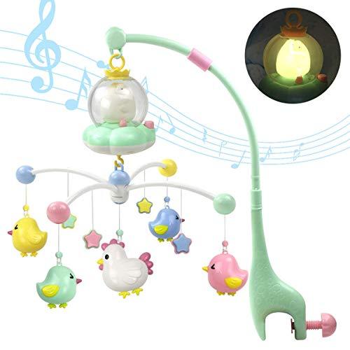 Miwaimao Caja de música sonajeros para niños Juguetes de bebé 0-12 Meses Móvil en la Cama Bell Juguetes educativos Recién Nacidos Rotación Nocturna Rotation