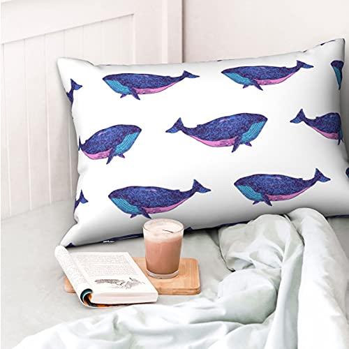 VVSADEB Funda de almohada con estampado de tiburón, 50 x 70 cm, funda de almohada con cremallera, suave y acogedora, arrugas, tamaño estándar, 1 paquete