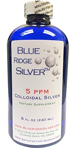 Blue Ridge Silver - 5 ppm 8 oz Colloidal Silver Natural Immune Support Health Supplement