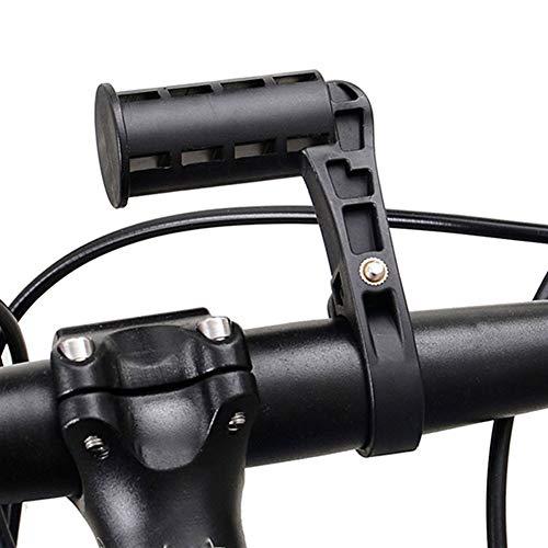 Útil Universal de la Bicicleta LED Linterna antorcha de Montaje ciclocomputadores Ayuda del Soporte del teléfono móvil de Soporte de Bicicleta montado en el Manillar Extender (Color : Black)
