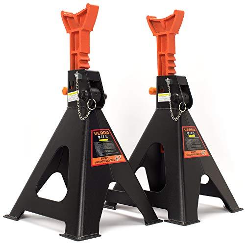 Unterstellböcke 3T oder 6T Stützböcke Wagenheber Ständer Modellwahl (1 Paar nit Sicherung 6T)