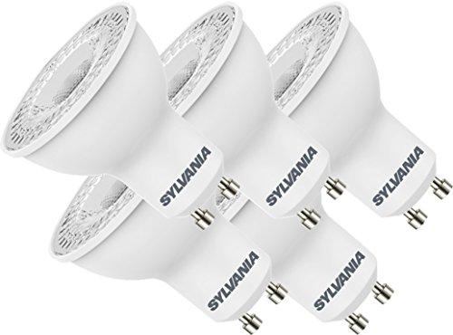 Sylvania Plastic LED-lamp, warm wit, GU10, 4,5 W, 5 stuks
