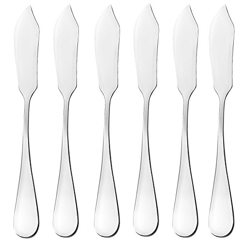 Butter Knife, Cheese Knife, Dover Sole Breakfast Kippers , AOOSY Cute Mini 5.91 inches Stainless Steel Kitchen Knives for Butter Sandwiches Cheese Breakfast,Packs Of 6