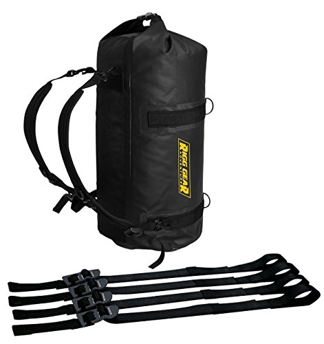 Nelson-Rigg SE-1030-BLK (Se-1030) Ridge Roll Dry Bag 30L 100% Waterproof with Backpack Straps, 30 L, Black