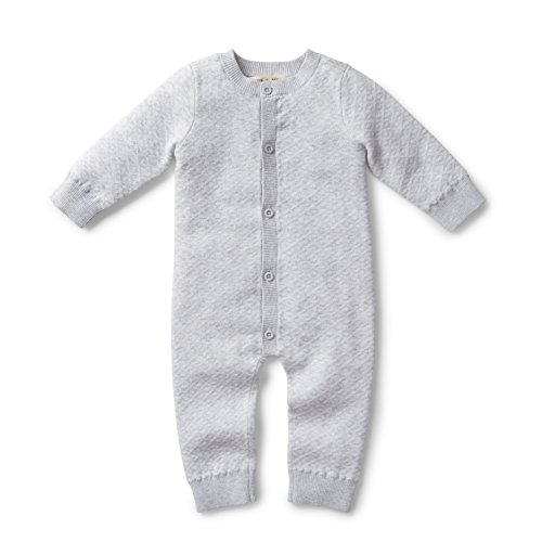 Product Image of the Hope & Henry Layette Heather Grey Romper