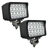 EKLAMP Faro de trabajo, 45 W, 6 pulgadas, 24 V, LED, faros antiniebla, faro adicional LED para tractor 6000 K, IP68, 5800 lm, motocicleta, SUV, UTV, ATV (2 unidades)