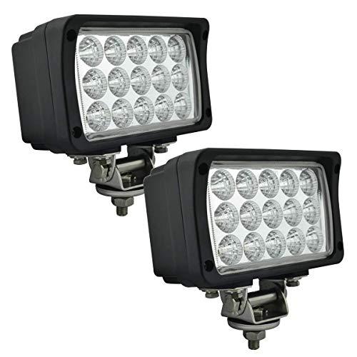 EKLAMP Arbeitsscheinwerfer, 45W 6 Zoll 24V LED Scheinwerfer, Nebelscheinwerfer, LED Zusatzscheinwerfer für Traktor 6000K IP68 5800LM, Motorrad, SUV, SUV, UTV, ATV(2 Stück)