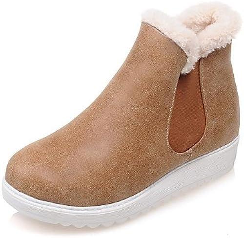 XZZ  Chaussures Femme - Habillé    Décontracté - Jaune   Rouge   gris - Plateforme - A Plateau   Bout Arrondi   Bottes à la Mode - Bottes -  nous fournissons le meilleur