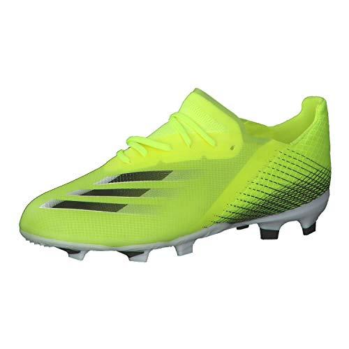 adidas X GHOSTED.1 FG J, Zapatillas de fútbol, Amasol/NEGBÁS/AZUREA, 35.5 EU
