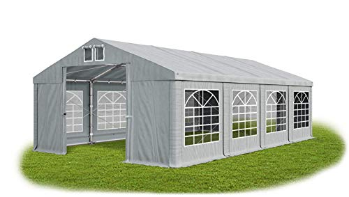 Das Company Marquee 4x8m waterproof grey Heavy-Duty PVC 560g/m² Tarpaulin All Seasons Gazebo Winter Plus SD