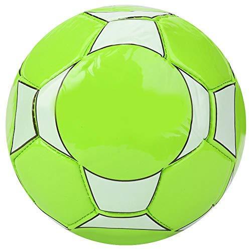 Qiilu Fútbol para niños, Deporte al Aire Libre en Interiores Entrenamiento de balones de fútbol para niños con Aguja de inflado y Red(Verde)