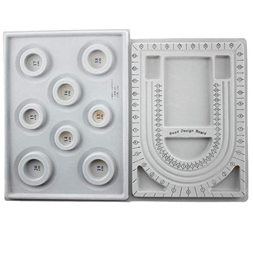 Mefeny 2 piezas de cuentas con diseño de tabla de cuentas de diseño de tabla de cuentas flocadas para collar y joyas, bandeja para hacer joyas