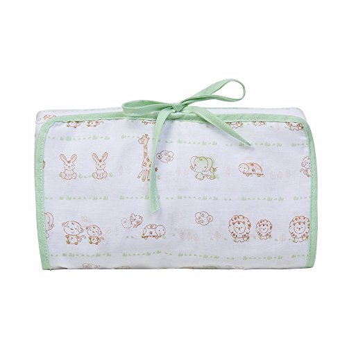 Papi Textil Trocador Porta Fraldas Baby Estampado, Verde, 66cmx40cm