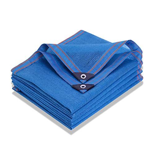 Lona alquitranada Protector Solar para Piscina, Malla de protección térmica Azul de 8 Pines Resistente a los Rayos UV para balcón, Patio, cochera, 2x3m, 3x8m, 4x10m