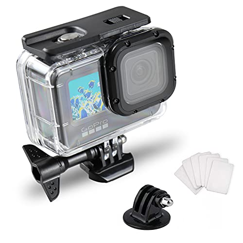 SRUIM Wasserdichte Hülle für GoPro Hero 9 Zubehör, Unterwasser-Tauchen, 50 m, Schutzgehäuse für Go Pro Hero9 Action-Kamera mit Halterung Zubehör