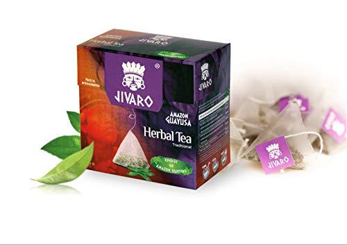 JIVARO Guayusa Tee (Einzelpackung) - 15 Teebeutel - Kräutertee für Konzentration verbessern & Antioxidantien - Enthält Koffein & L-Theanin - Energie Tee der Amazonas Jäger!