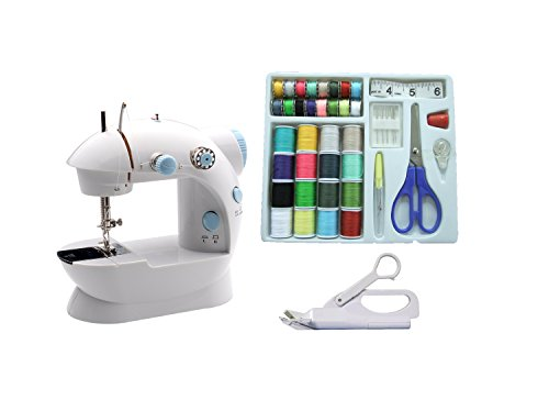 MICHLEY LSS-202Combo Lil' Sew & Sew LSS-202 Combo Mini Sewing Machine, Electrical, White