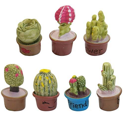KESYOO - Mini plantas artificiais de mesa de plantas suculentas artificiais para decoração de mesa para decoração de quarto de casa, 7 peças