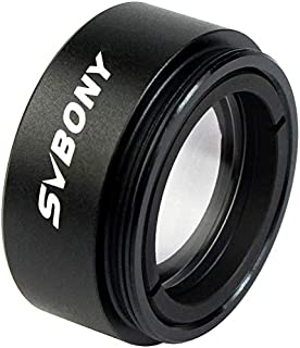 SVBONY 0.5X Telescope Focal Reducer 1.25 inches Filter Thread 28.5x0.75mm on Both Sides Reduces The Focal Length for Teles...