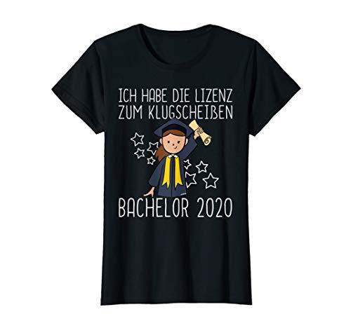 Damen Bachelor 2020 Abschluss Fun Geschenk Frauen Uni Absolvent T-Shirt