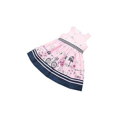 Vovotrade® Kids Baby Dress Girls Toddler Enfants Robe De Bébé Filles Rose Sans Manches Party Princess Pageant Dresses (PINK, 4T)