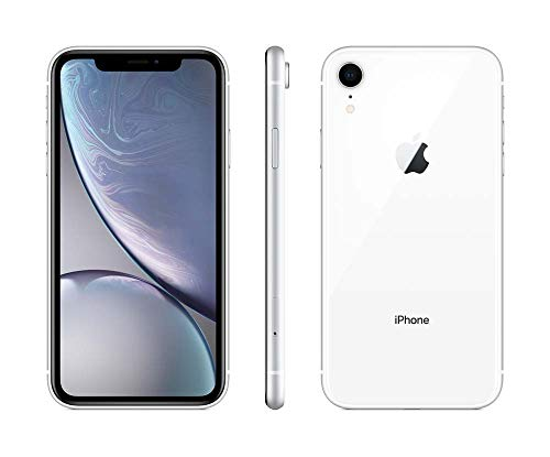Apple iPhone XR, AT&T, 128GB - White (Renewed)