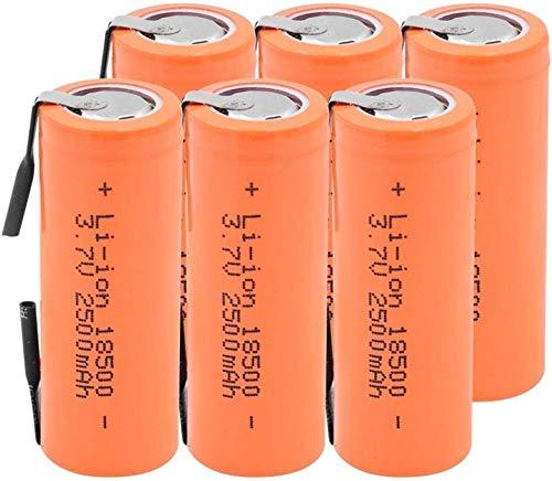 3.7V 2500Mah 18500 Baterías De Iones De Litio Batería De Litio para Fuente De Energía Móvil De Linterna Scooter Flash-6 Piezas