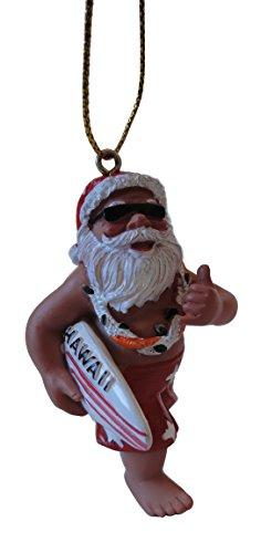 <クリスマスツリーオーナメント>Santa&Hawaii(サンタ&ハワイ)サーフボードサンタ