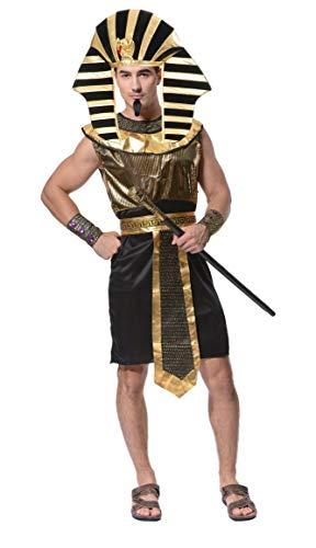 Lovelegis Disfraz de Sacerdote Egipcio faraón tutankamón Disfraz - Carnaval - Halloween - Cosplay - Accesorios - Hombre niño - Talla única
