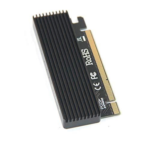 LeHang M.2 NVMe SSD NGFF A PCIE 3.0 X16 Adaptador con LED M Tarjeta de Interfaz de Llave Soporte PCI Express 3.0 x4 2230-2280 Tamaño m.2 Velocidad Completa